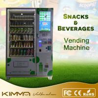 China Flavored Water Chips Candy Combination Vending Machine Dispenser With Note Acceptor on sale