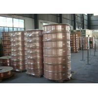 China Custom Length Copper Coil Tubing / Pancake Coil Copper Pipe 0.1 - 200mm Wall Thickness for sale