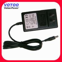 Quality Euro Plug 24W Wall Mount Power Adapter 12V 2A , CCTV Camera Power Supply for sale