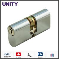 Quality Brass Oval Profile Mortice Lock Cylinder Split Cam Satin Chrome Commercial for sale