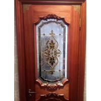 Quality Decorative leaded glass for wood  doors made in China for sale
