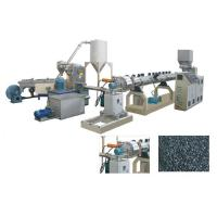 Quality TSK75 PE PP Caco3 Parallel double screw extruder water ring pelletizing line/granulator for sale