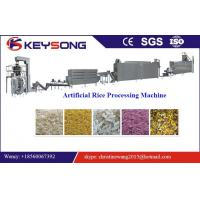 China Puffed Artificial Rice Making Machine Double Screw Extruder Steady Performance on sale