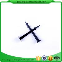Quality Plastic Screw In Garden Ground Anchor For Netting Fix 27cm Length Black Plastic Garden plant accessories for sale