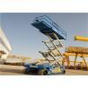 Top Floor Control Automotive Scissor Lift , Mini Scissor Lift Blue Color for sale