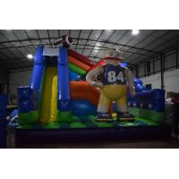 Quality American Football Inflatable Fun City / Soccer Sport Games Bouncy Jump House Park With Slide for sale