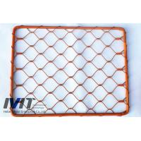 Quality red  epoxy ferruled and knotted ss rope mesh for sale