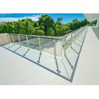 China Stainless Steel Glass Stair Rails Parts, Tempered Glass Deck Railing on sale