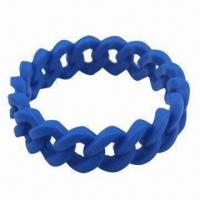 Quality Silicone Bracelet/Bangles/Wristband, Passed FDA Test, Customized Colors and Sizes are Welcome for sale