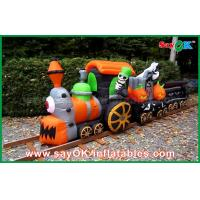 Quality 6m OXFord Cloth Inflatable Holiday Decorations Halloween Train For Fun ROHS for sale