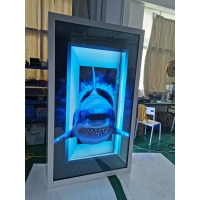 Quality 86/75inch Transparent LCD Display Box with Interactive Touch Showcase Hologram Boxes advertising display screen for sale