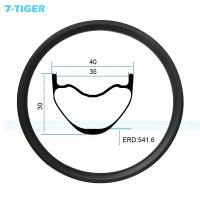 Quality 7-tiger carbon mountain bicycle wheel rim 27.5er cross conuntry bike fat XC bike 30 x 40  holes Tubeless Compatible for sale