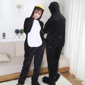 Buy cheap Cute Penguin Cartoon Flannel Black Pajamas from wholesalers