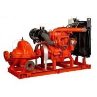 China 80hp irrigation water diesel engine fire pump Base Mounted 60hp Suction Flapper 100GPM on sale
