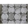 Grey Serpeggiate Marble Mosaic Pattern Tiles , Indoor Marble Mosaic Floor Tile for sale