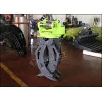 Quality Single Cylinder Hydraulic Grapple Attachment360° Rotation Excellent Grasping Ability for sale