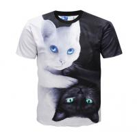Quality Casual 3d Animal Print T Shirts / Dye Sublimation T Shirts Round Neck for sale