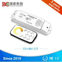 Quality T2+R4 DC 12V - 24V 4 channels color tempeture control with RF touch remote CCT led controller for sale