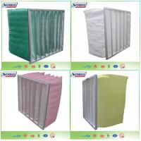 China Synthetic Filter Media Non-Woven 6 Pockets HVAC Air Filters , High Capacity Air Conditioner Filter Replacement on sale