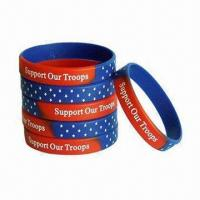 Quality Silicone Rubber Bracelets, Fashionable Style, Letters Engraved, Custom Designs with Logo for sale