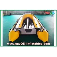 Quality 0.8mm PVC Inflatable Boats Aluminium Bottom 3.3m Long For 5 Peopel for sale