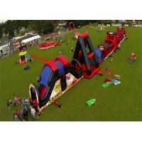 China Outdoor Inflatable Obstacle Course , Full Challenge Adult Outdoor Obstacle Course , Obstacle Course Ideas on sale