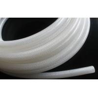 Quality High Purity Fiber Braided Silicone Tubing No Smell Translucent Natural Color for sale