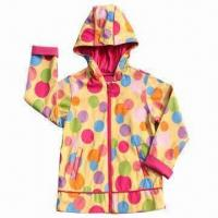 Quality Children's PU Raincoat with 100% Polyester Lining for sale