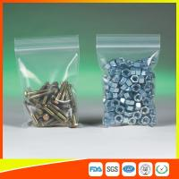 Buy Clear Packing Ziplock Bags For Hardware Packaging , Plastic Bag With Zipper at wholesale prices
