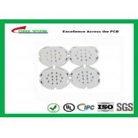 Quality 1 Layer PCB LED Aluminium Base Printed Circuit Board , White Solder Mask for sale
