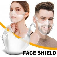 Quality New Style Transparent Face Shield PC Anti-Fog And Anti-Splash Mask for sale