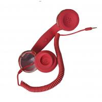Quality Retro Noise Cancelling Anti Radiation Handset, Cell Phone Handsets With Retractable Cable for sale