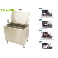 Buy cheap Food Industry Ultrasonic Cleaner for Oil and Carbon Removing with Drainage and Wheels from wholesalers