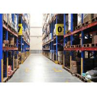 Quality Durable Conventional Powder Coating Steel Pallet Racks , Metal Shelving Systems For Long Material for sale