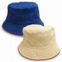 Quality Bucket Hat, Customized Embroidery Logo Design are Welcome, Made of 20 x 16 Cotton Twill Material for sale