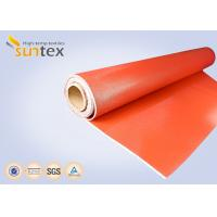 Quality 0.7 mm Thickness Silicone Coated Fiberglass Cloth For Fire Curtains And Fire Door for sale