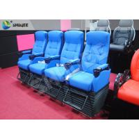 Quality Blue 4 Seats 1 Sets 4D Home Cinema Equipment With Foot Support for sale