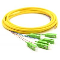 Quality Simplex Fiber Optic Pigtail With SM Yellow Fiber Optic Cable Low Salt Spray for sale