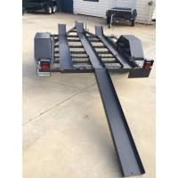 Quality 750kg 7x4 Two Bike Motorcycle Trailer , Tandem Axle 3 Rail Motorcycle Trailer for sale