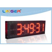 China 6 Digits Digital Clock Countdown Timer , Bus Station Digital Countdown Clock For Wall   on sale