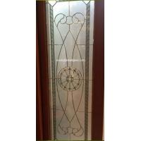 """Quality brass caming stained glass panel for wooden door 1"""" thickness for sale"""