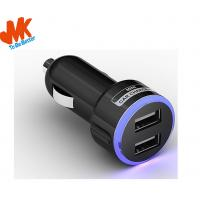 Quality 5V 2100MA PC + ABS Mini Dual USB Car charger / Micro Usb Car Chargers for sale