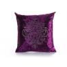 Buy cheap Custom Unique Creative Shiny Diamonds Logo Purple Square Soft Velvet Pillow Case from wholesalers