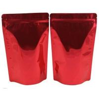 Buy Zipper Moisture Proof Coffee Packaging Bags Plastic Golden Printing With Tear Notch at wholesale prices