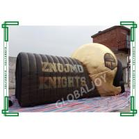 Giant Football Helmet Tunnel Advertising Inflatables Customized In Golden
