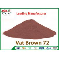 Quality C I Vat Brown 72 Brown GG Chemical Dyes Used In Textile Industry 100% Strength for sale
