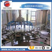 Quality Flowing Liquid Auto Water Filling Machine 3 In 1 0% - 0.1% Filling Precision for sale