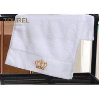 Quality 100% Cotton Bath Hotel Towel Set Soft Touch 200-600gsm  with Golden Logo for sale