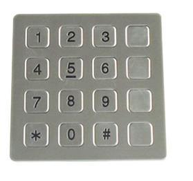 Buy cheap Vandal Resistant Phone Keyboard , Stainless Steel Keypad With 16 Keys from wholesalers