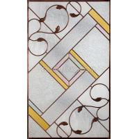 Quality stained glass windows with art iron for sale